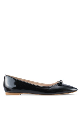 Velvet 黑色 Square Toes Ballet Flats 4D904SH579CACAGS_1