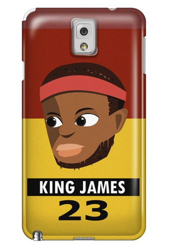 Wonder Cover black and brown and red and yellow and gold King James Matte Hard Case for Samsung Galaxy Note 3 WO617AC84AITPH_1