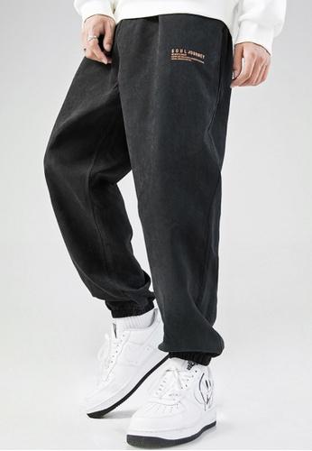 Twenty Eight Shoes black VANSA Simple And Loose Casual Pants VCM-P9188 02C63AA07BF2E8GS_1