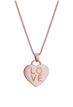 7f0a5186d9f Elli Germany gold Elli Germany Curb Chain Heart Love Wording Pendant 925  Silver Necklace 1715EAC19544AAGS_1