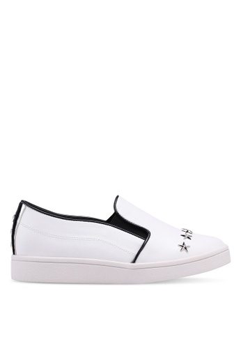 Something Borrowed white Studded Slip Ons 91914SH2D28A04GS_1