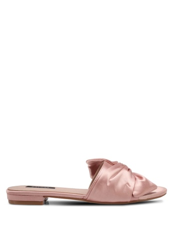 ZALORA pink Satin Slip-On Sandals D3414SH5ADA86DGS_1