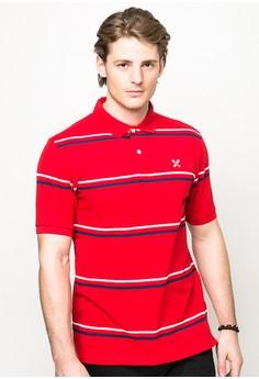 Essential Stripes Polo Shirt (Red )