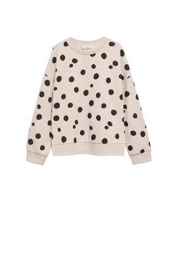 MANGO KIDS beige Printed Cotton Sweatshirt 17AF8KACB54F59GS_1