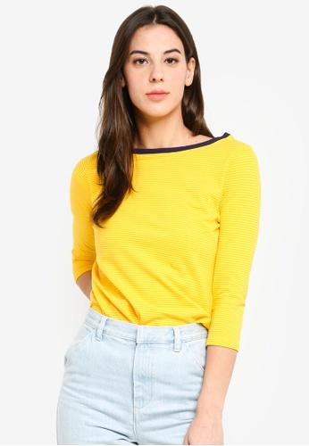 UniqTee yellow Basic Long Sleeve T-Shirt 1E8AFAAEF77F32GS_1