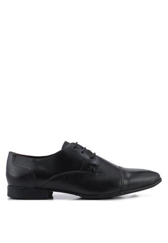 Topman black Fly Toecap Shoes 8117DSHAE1C993GS_1