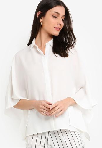 ZALORA white Craftan Shirt B2CA9AA1BF7489GS_1