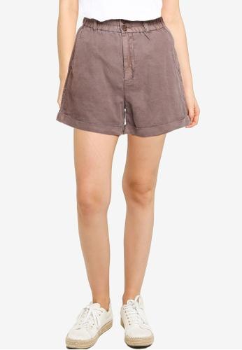GAP brown Hr Linen Paperbag Shorts C59AEAAF0ABCCFGS_1