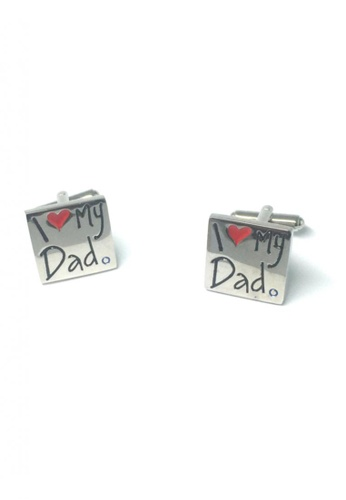 Splice Cufflinks silver Silver I Love My Dad Cufflinks   SP744AC75DSUSG_1