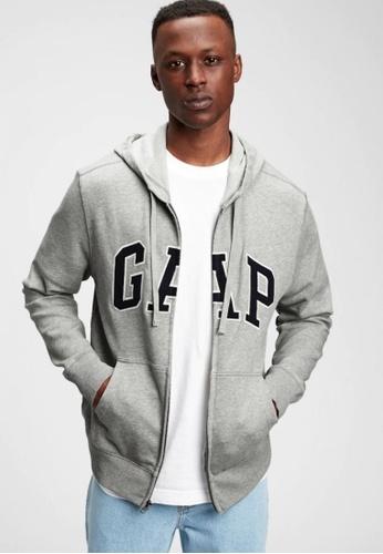 GAP grey Logo Full Zip Hoodie C9BEEAA21D9B27GS_1