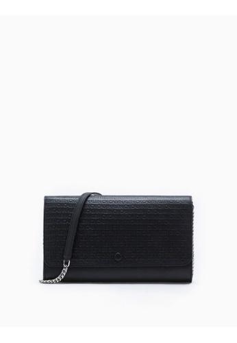 Calvin Klein black All-Over Logo Wallet With Chain 2D9B7AC3D08A1CGS_1