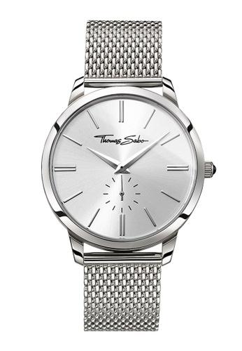 "THOMAS SABO silver Men's watch ""REBEL SPIRIT"" TH376AC0GM3KSG_1"