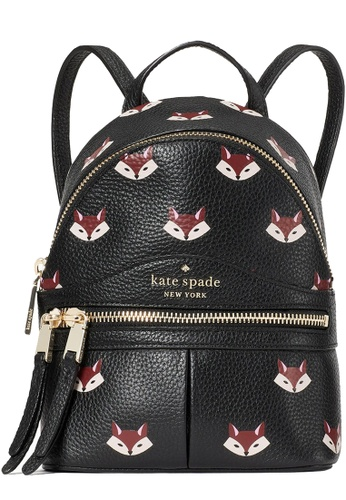 Kate Spade black Kate Spade Out of the Woods Fox Mini Convertible Backpack Bag in Multi 56137ACB232816GS_1