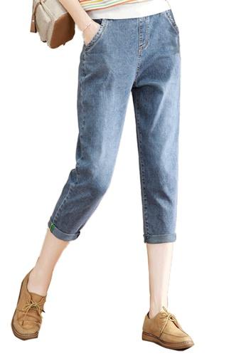 A-IN GIRLS blue Elastic Waist Jeans 7E22DAA14BDA02GS_1