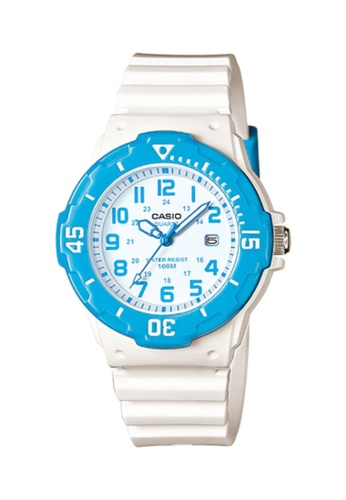 CASIO white Casio Women's Analog LRW-200H-2BVDF White Resin Band Casual Watch CA347AC0UIHXID_1