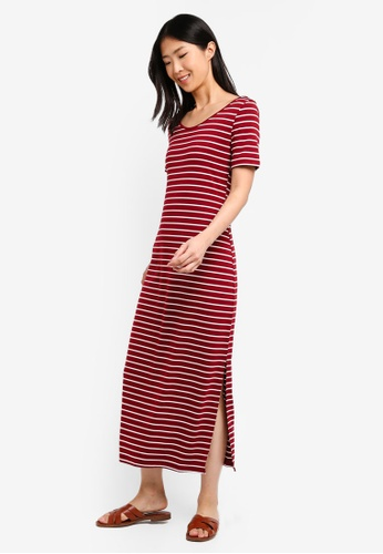 ZALORA BASICS multi Basic Midi T-Shirt Dress 49874AA3E62795GS_1