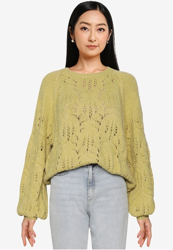 LOWRYS FARM yellow Cable Knit Pullover 8AF62AA237F2E3GS_1