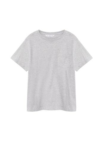 MANGO KIDS grey Organic Cotton Pocket T-Shirt 11E2BKA96E269BGS_1
