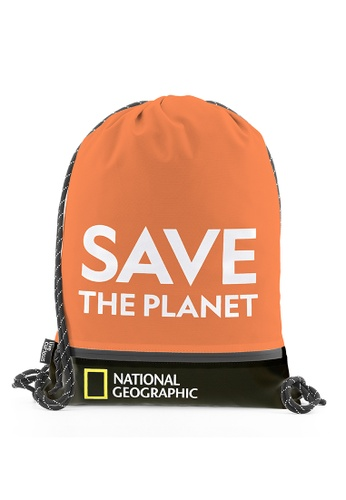 National Geographic orange National Geographic Saturn Drawstring Bag Orange D5E92AC58C4F84GS_1