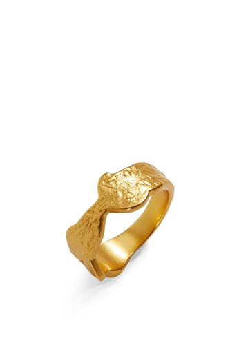 Mango gold Asymmetric Ring 19F3BAC057C128GS_1