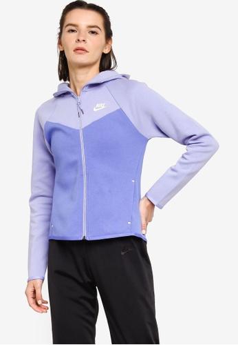 Nike blue Women's Sportswear Windrunner Tech Fleece Hoodie 88ACEAAA0FBF4BGS_1