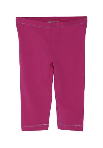 DU PAREIL AU MÊME (DPAM) pink Plain Leggings 3242DKA557E63CGS_1