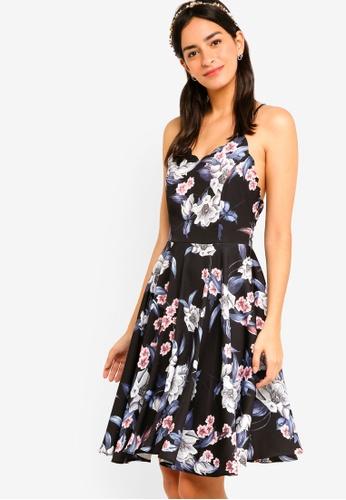 ZALORA multi Bridesmaid Scalloped Neck Mini Dress 6B795AABB7A5B1GS_1