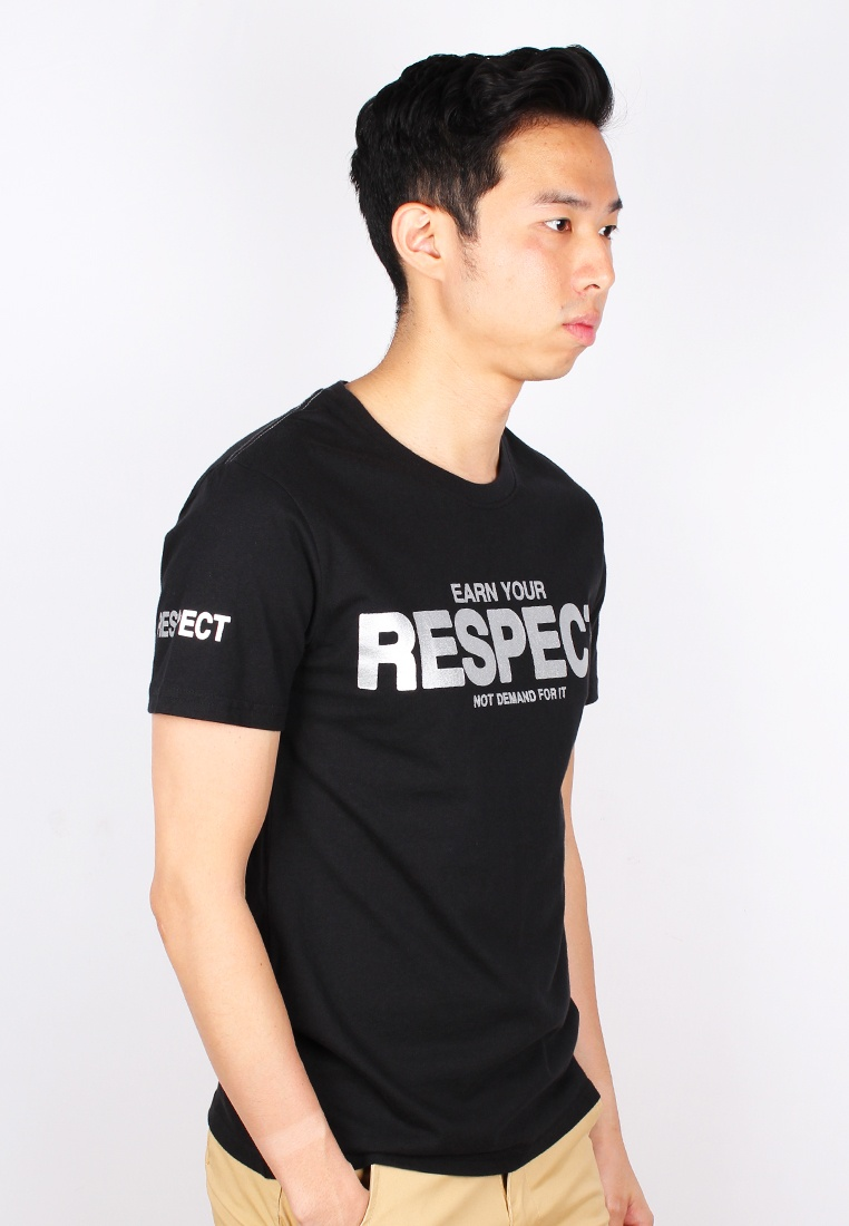T Moley Black RESPECT EARN Shirt YOUR wagRqR