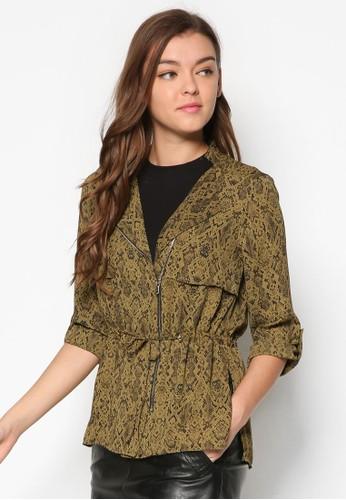 動物紋拉鍊外套, 服飾, esprit 特賣外套