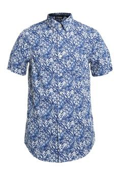 Chaps blue Chaps Summer Short Sleeve Shirt 1EA2CAAAB19FBCGS_1