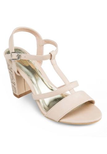 閃飾粗跟涼鞋, 女鞋,esprit地址 厚底鞋