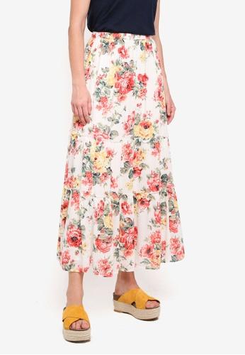 Abercrombie & Fitch white Print Maxi Skirt 2E8FDAAE78F139GS_1