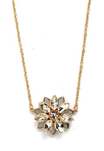 Kimberley gold Faux Stone Short Necklace KI026AC46VHDPH_1