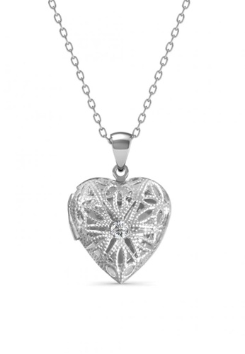 Her Jewellery white Her Jewellery Mesh Locket Pendant with Necklace Chain with 18K Gold Plated 3E5F1AC39E82A2GS_1