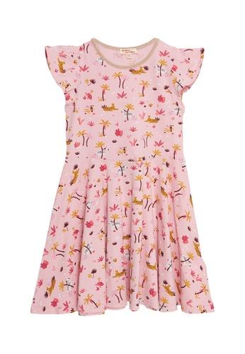 Du Pareil Au Même (DPAM) pink Print Dress F8E07KAD13D25EGS_1