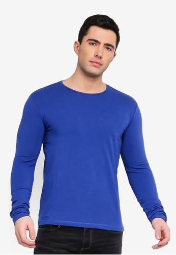 OVS blue Long Sleeve Stretch T-Shirt E5753AAFFB82F8GS_1