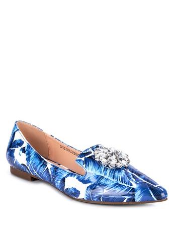 S&H blue Garenne Pointed Toe Flats EA27DSHA6874BBGS_1