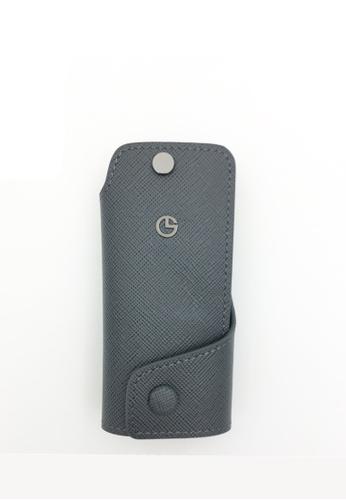 Goldlion grey Saffiano Leather Key Pouch (Grey with 2 Key Holder) A0FA7ACF47EB96GS_1