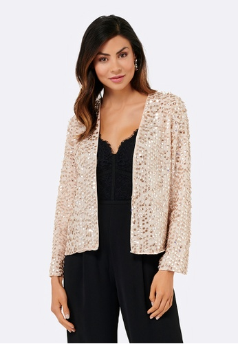 Forever New beige Helen Sparkle Jacket 7FA70AA49D7A3FGS_1