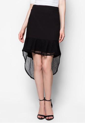 條紋荷esprit旗艦店葉薄紗魚尾短裙, 服飾, 迷你裙