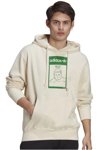 ADIDAS white unisex marvel hoodie FFC2FAAF1854D4GS_1