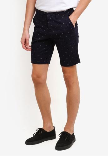 REGATTA navy Printed Chino Walk Shorts RE699AA0RUPQMY_1