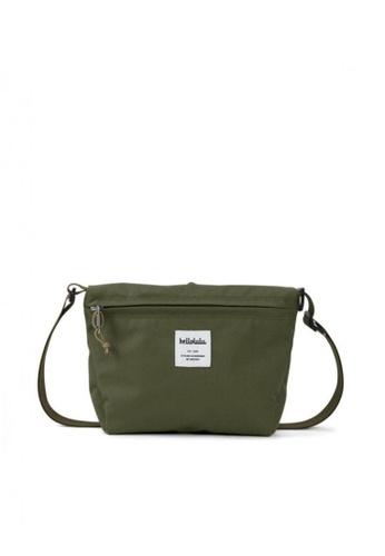 Hellolulu green Cana Compact Utility Bag 872B5AC45408FEGS_1