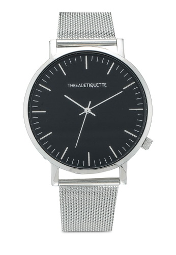 Thread Etiquette silver Classic-Silver Mesh Timepiece 2FE7FAC13526F6GS_1