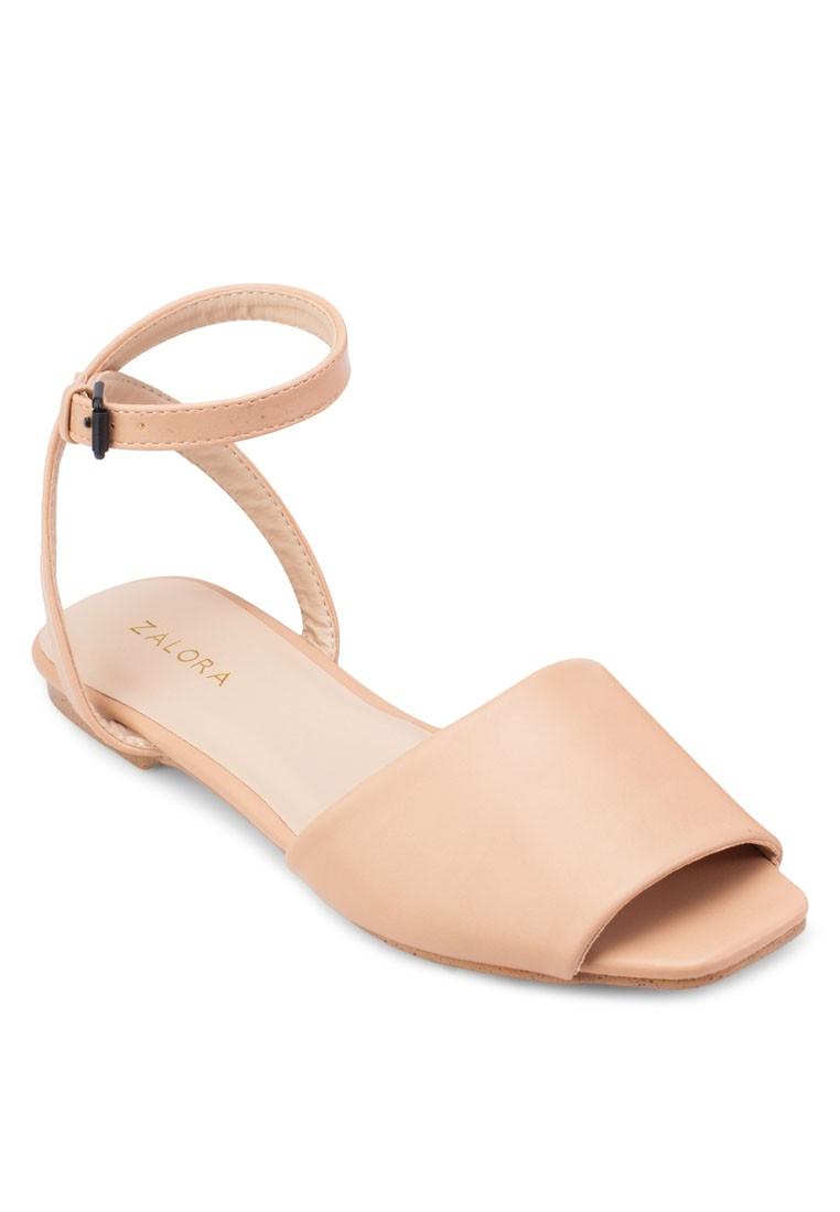 Basic Ankle Strap Flat Sandals