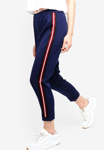 Something Borrowed navy Striped Trim Track Pants 5C98EAA7D62621GS_1