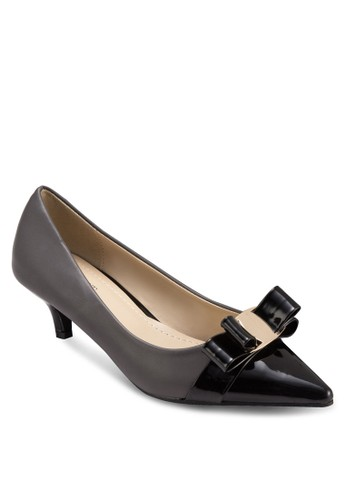 Marilyn 蝴蝶結拼色高跟鞋, 女鞋, 厚zalora 心得 ptt底高跟鞋