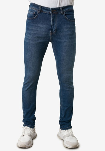Trendyol blue Mid Washed Skinny Jeans 39E05AAE9F5E2EGS_1