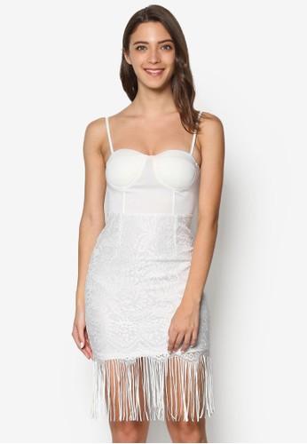 流蘇蕾esprit 香港絲拼接洋裝, 服飾, 洋裝