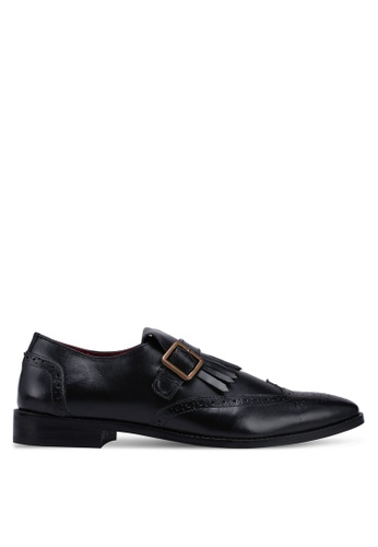 Acuto black Leather Business Shoes 95332SH1A26591GS_1